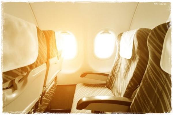 晴天の飛行機旅行